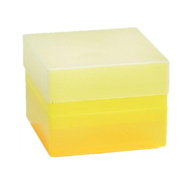 Pudełko na probówki 15 ml żółty