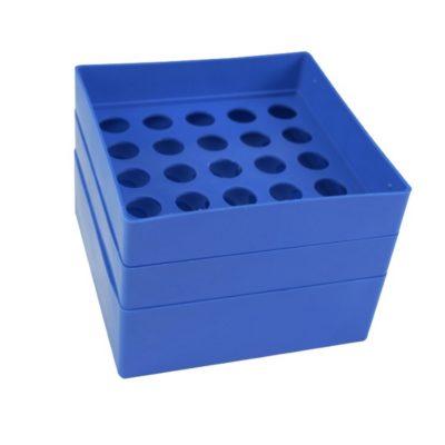 Pudełko na probówki 15 ml niebieski