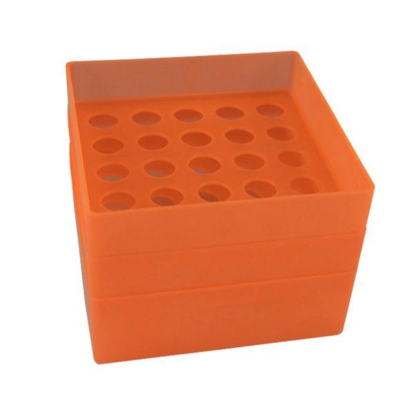 Pudełko na probówki 15 ml pomarańczowy
