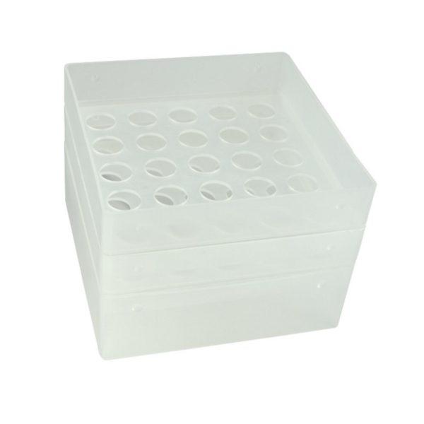 Pudełko na probówki 15 ml przezroczysty