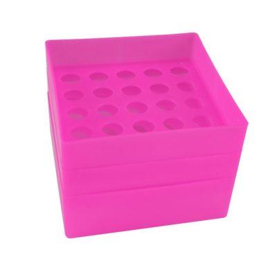 Pudełko na probówki 15 ml różowy