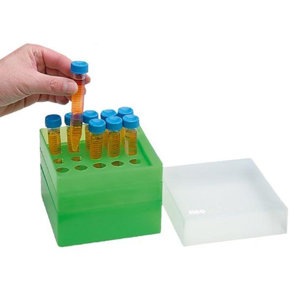 Pudełko na probówki 15 ml zielony