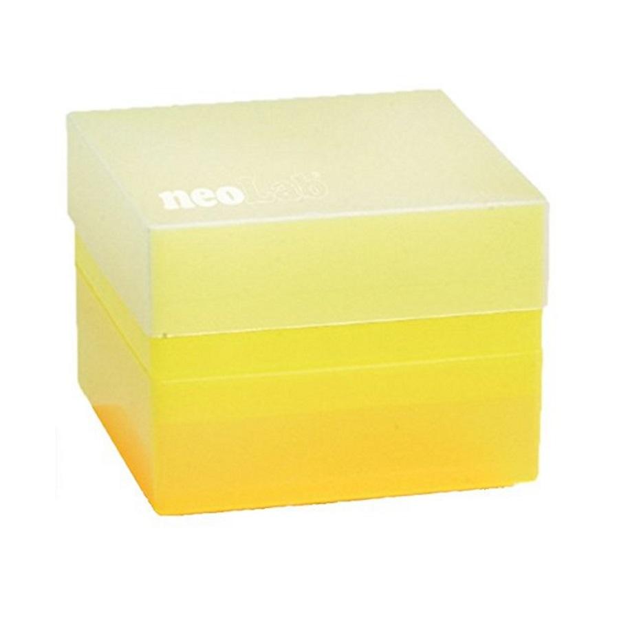 Pudełko na probówki 50 ml żółty