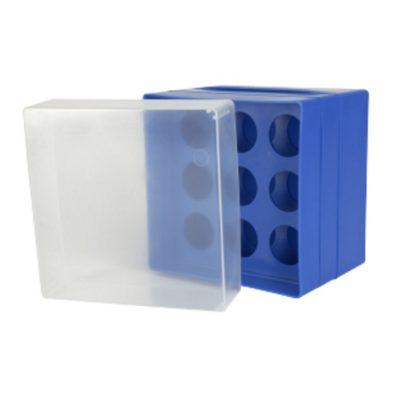 Pudełko na probówki 50 ml niebieski