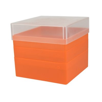 Pudełko na probówki 50 ml pomarańczowy