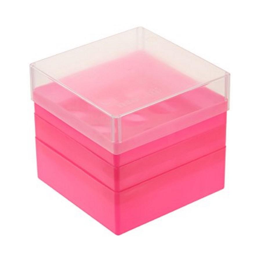 Pudełko na probówki 50 ml różowy