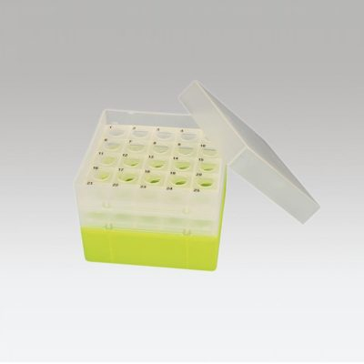 Pudełko na probówki Falcon 15 ml żółty