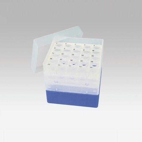Pudełko na probówki Falcon 15 ml niebieski