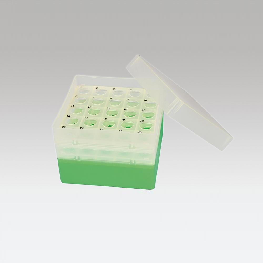Pudełko na probówki Falcon 15 ml zielony