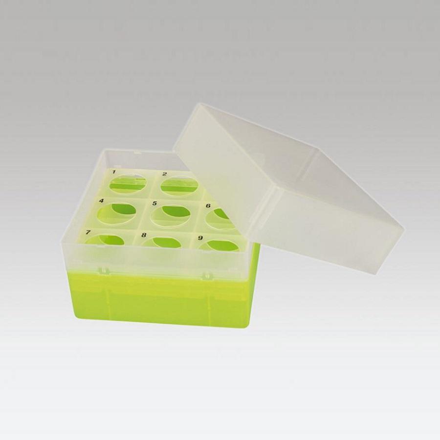 Pudełko na probówki Falcon 50 ml żółty