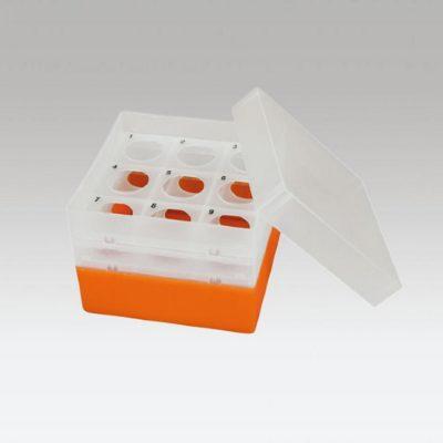 Pudełko na probówki Falcon 50 ml pomarańczowy