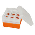 Pudełka na probówki Falcon - b-1617 - pudelko-na-probowki-falcon - 50-ml - pomaranczowy - 3-x-3