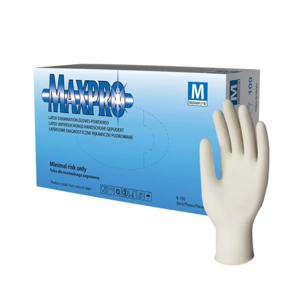 Rękawice lateksowe MaxPro - pudrowane - 1