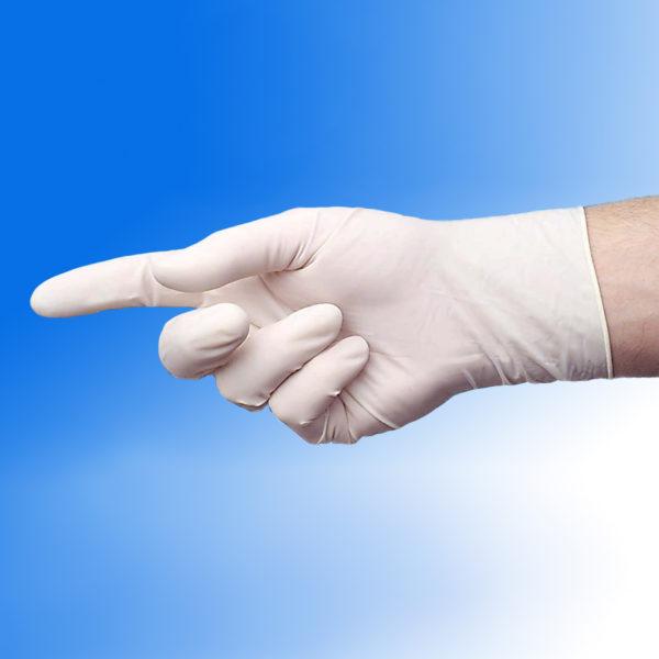 Rękawice lateksowe MaxPro - pudrowane - 2