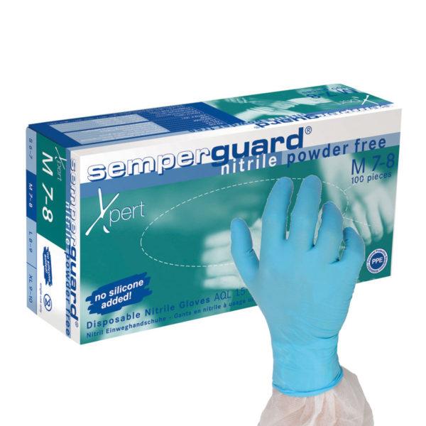 Rękawice nitrylowe Semperguard® Nitrile Xpert - jednorazowe - bezpudrowe - Semperit