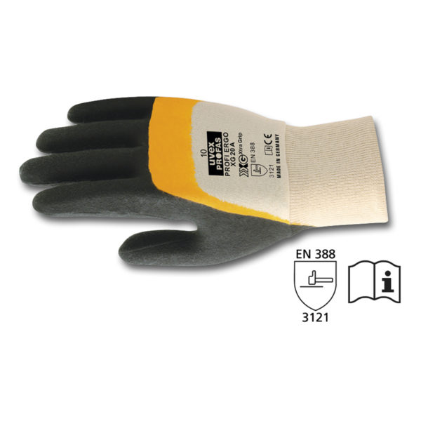 Rękawice ochronne z powłoką nitrylową, Uvex