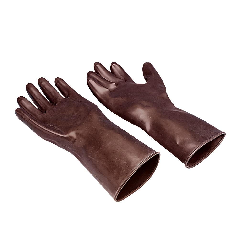 Rękawice z butylokauczuku, odporne na chemikalia