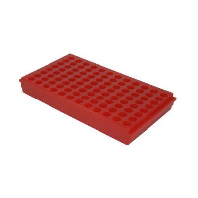 Statyw Combi-Rack na probówki, 96-miejscowy czerwony