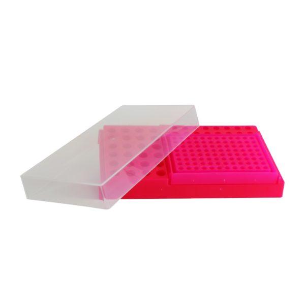 Statyw Combi-Rack z pokrywką różowy