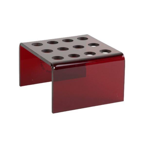 Statyw ze szkła akrylowego - 12 miejsc czerwony