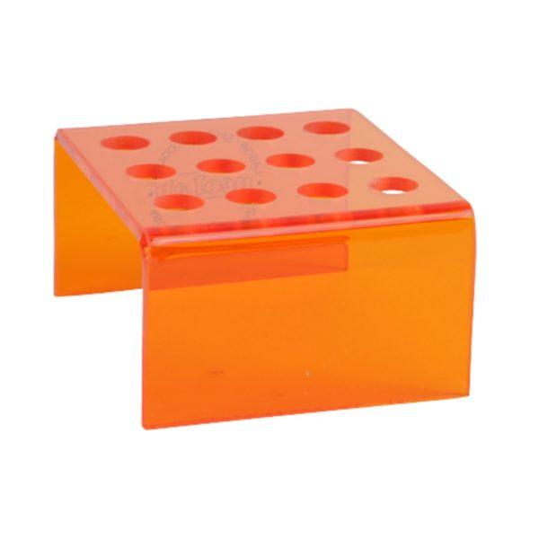 Statyw ze szkła akrylowego - 12 miejsc pomarańczowy