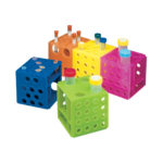 Statywy Combi w kształcie sześcianu - zestaw - 2-1829 - statywy-combi-w-ksztalcie-szescianu - niebieski-zielony-zolty-pomaranczowy-rozowy - 5-szt