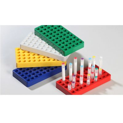Statywy na krioprobówki z blokadą w podstawie