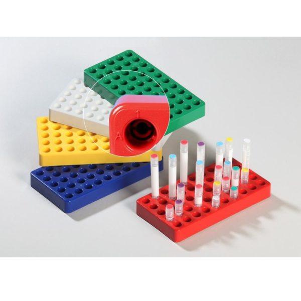 Statywy na krioprobówki z blokadą w podstawie - zoom