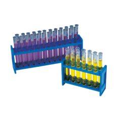 Statywy na probówki, niebieskie (PP)