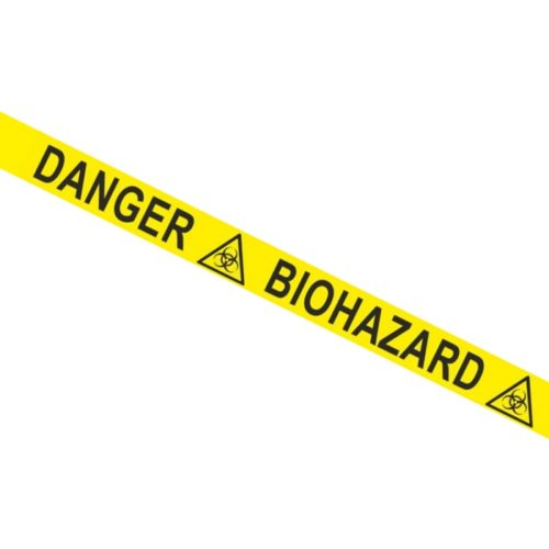 Taśma ostrzegawcza z napisem DANGER BIOHAZARD