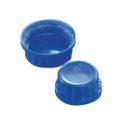 Zakrętki do butli laboratoryjnych z HDPE - b-3391 - zakretka-z-pp-ze-stozkowa-uszczelka-i-pierscieniem-plombujacym - 50 ml - niebieski - gl-28