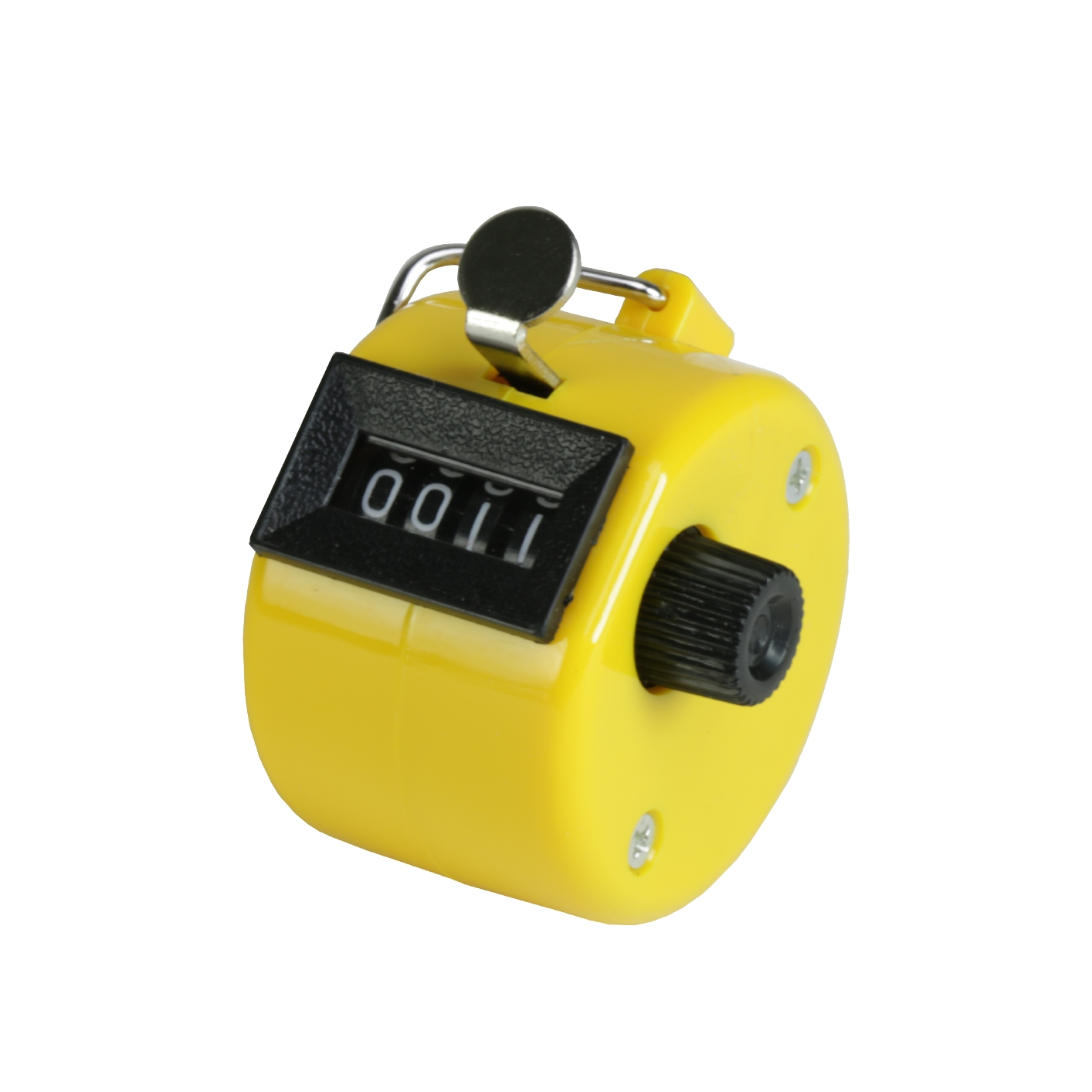 Licznik ręczny economy 0-9999, obudowa z tworzywa sztucznego w kolorze żółtym 1-7511