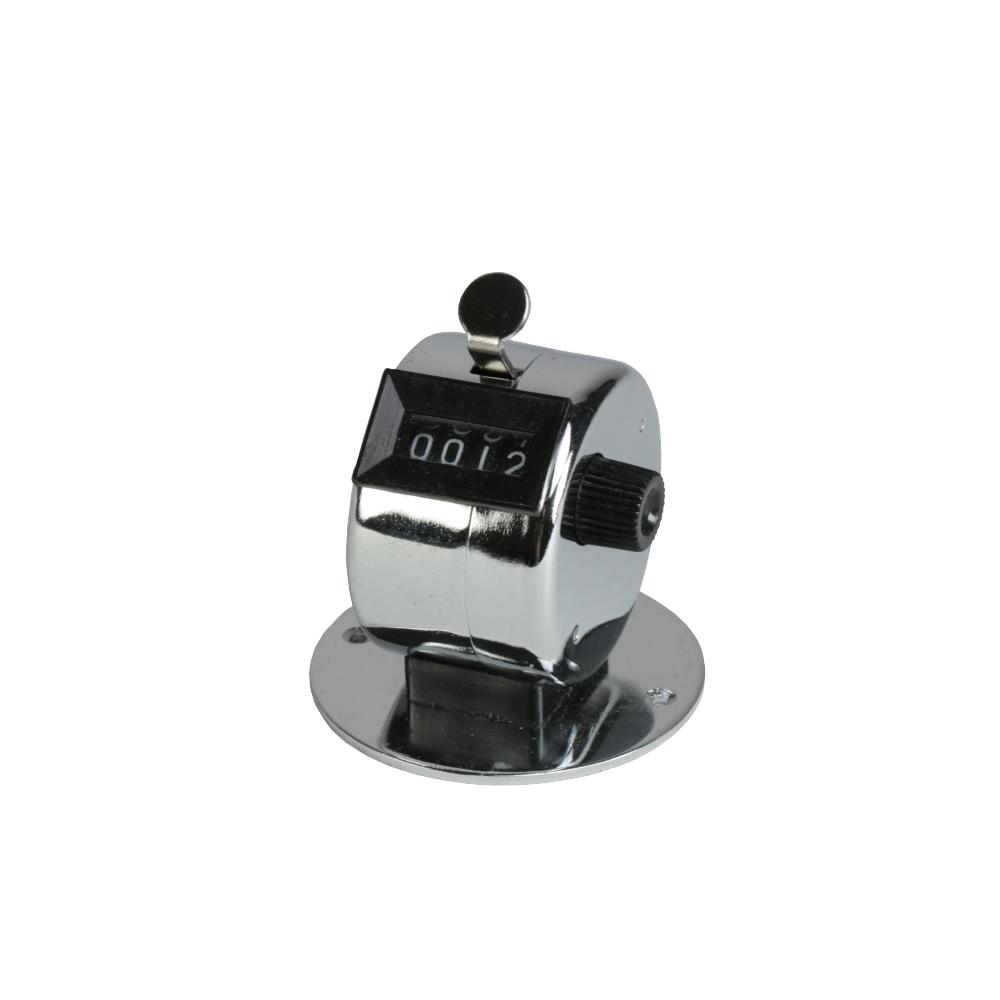 Licznik ręczny economy, 0-9999, obudowa z metalu, płytka do przymocowania śrubami 1-7512