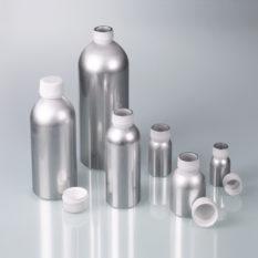 Aluminiowe butelki z zakrętkami z PP