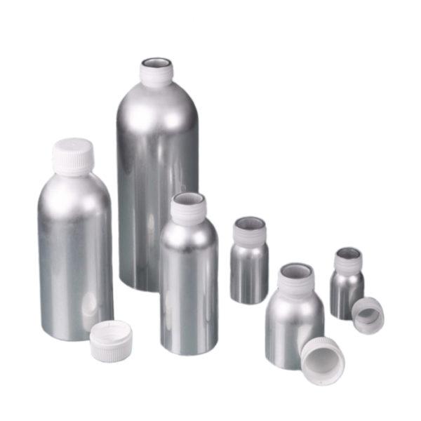 Aluminiowe butelki z zakrętkami z PP - o poj. 30 ml - 1,2 l