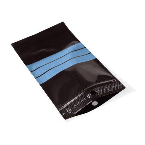 Czarne woreczki strunowe na próbki - z PE - z polem do opisu