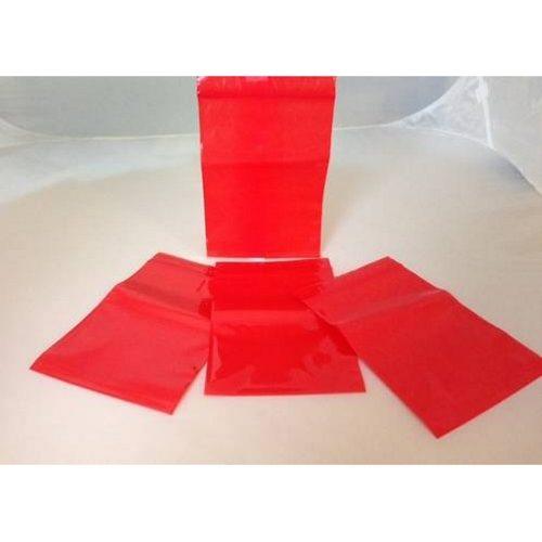Czerwone woreczki strunowe na próbki
