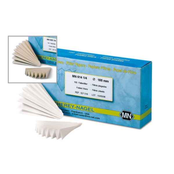 Filtracyjne sączki z bibuły o niskiej zawartości azotu - typ MN 614 ¼