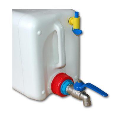 Kanister 60 litrowy z kranem, wykonany z HDPE