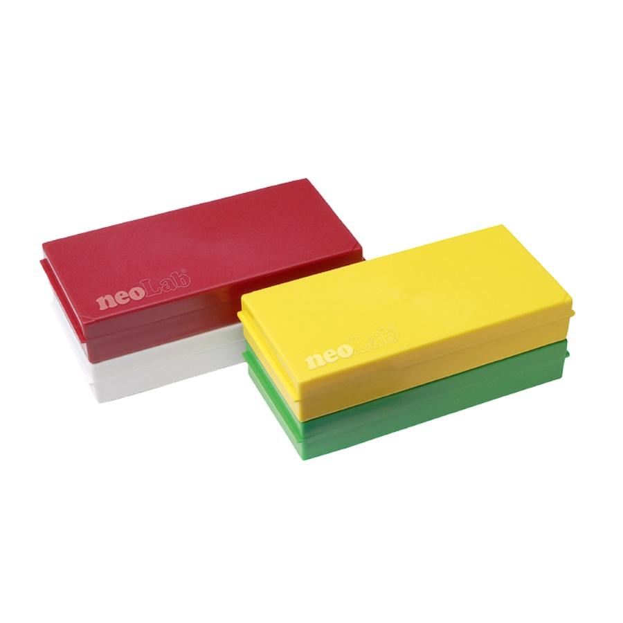 Kolorowa kasetka na 50 szkiełek podstawowych zielony