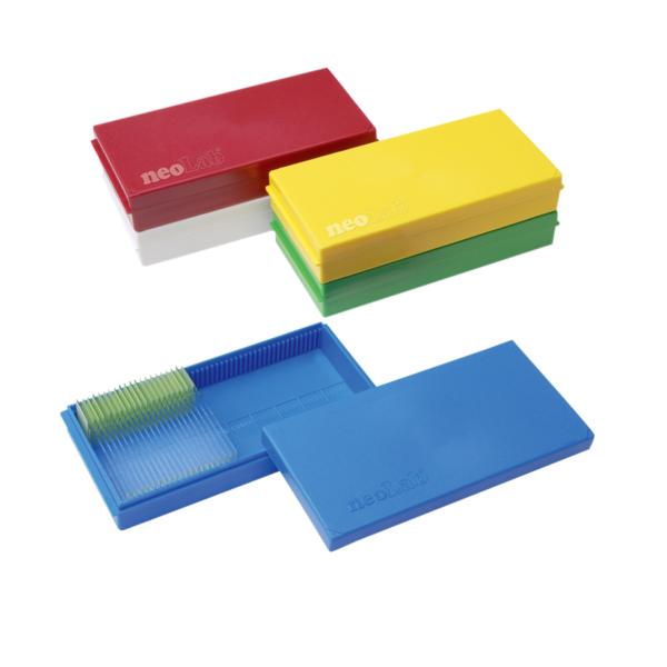 Kolorowa kasetka na szkiełka podstawowe