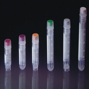 Krioprobówki z gwintem wewnętrznym i uszczelką – sterylne – poj. 1,2 ml – 5 ml