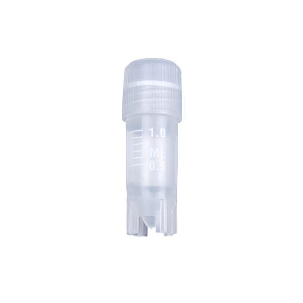 Krioprobówki z gwintem zewnętrznym i silikonową uszczelką-1,2ml