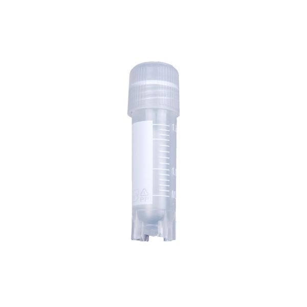 Krioprobówki z gwintem zewnętrznym i silikonową uszczelką-2ml