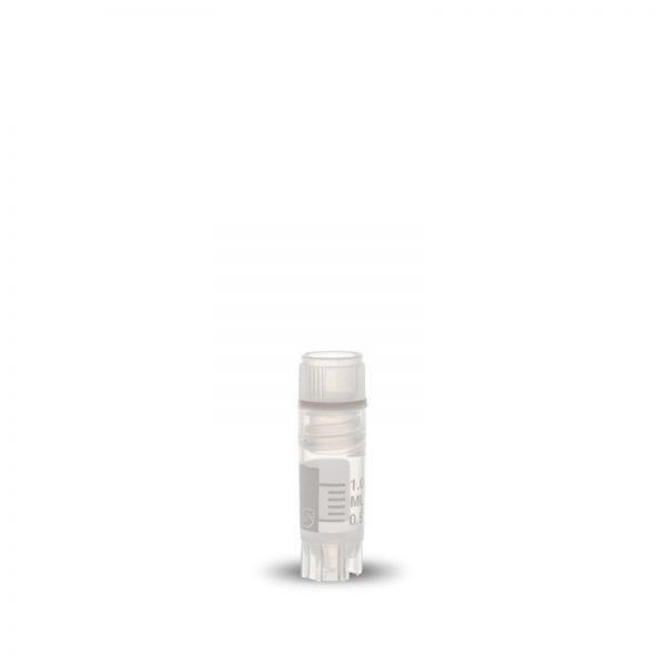 Krioprobówki z gwintem wewnętrznym i uszczelką - sterylne - poj. 2 ml