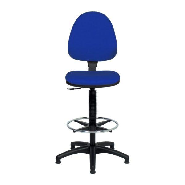 Krzesła laboratoryjne z obiciem z PCV