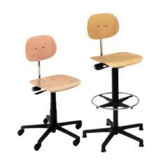 Krzesła obrotowe, drewniane