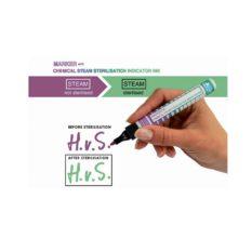 Marker z tuszem wskaźnikowym do kontroli sterylizacji parą wodną