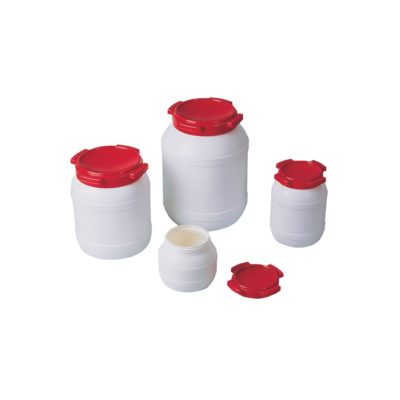 Naczynia z szeroką szyją (HDPE) i pokrywką gwintową