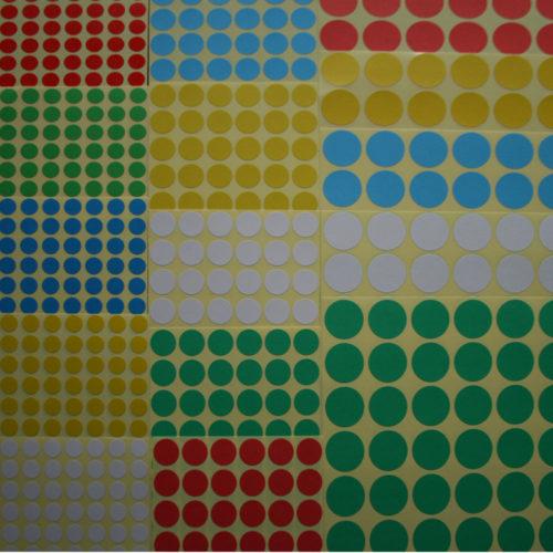 Naklejki do probówek - zestaw 5 kolorów